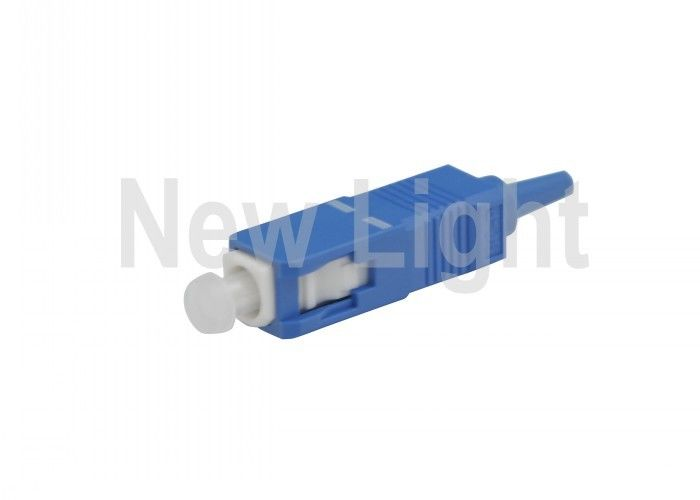 SC Single Mode Fiber Optic Connectors 0.9mm Diameter 62.5 / 125um For Wide Area Network