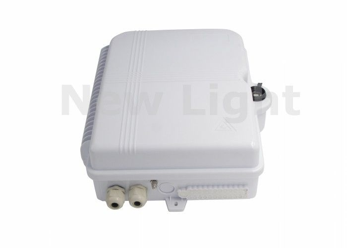 Withe Color Fiber Optic Termination Box SC 48 Port Wall Box For Local Area