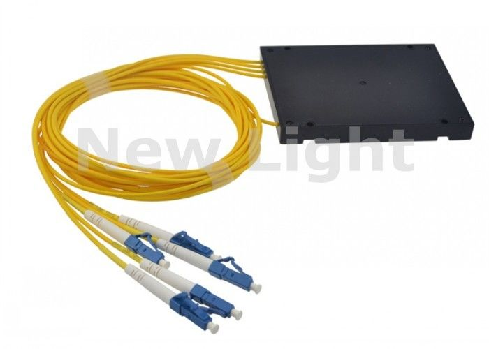 FTTH ABS Fiber Optic Splitter / 1x4 PLC Splitter Single Mode With LC UPC Connector