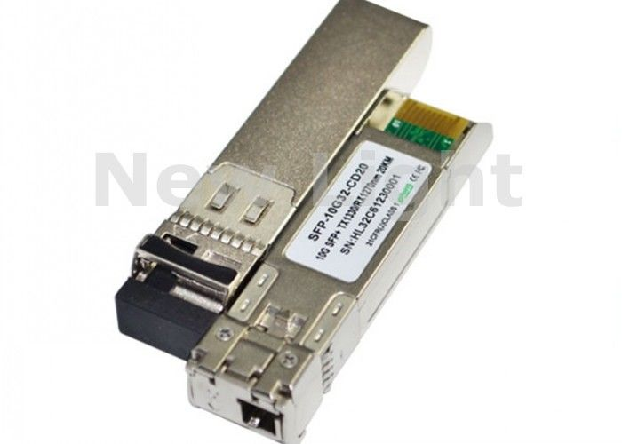 Single Fiber Channel 10G Fiber Optic Transceiver / SFP LC Transceiver For Gigabit Ethernet