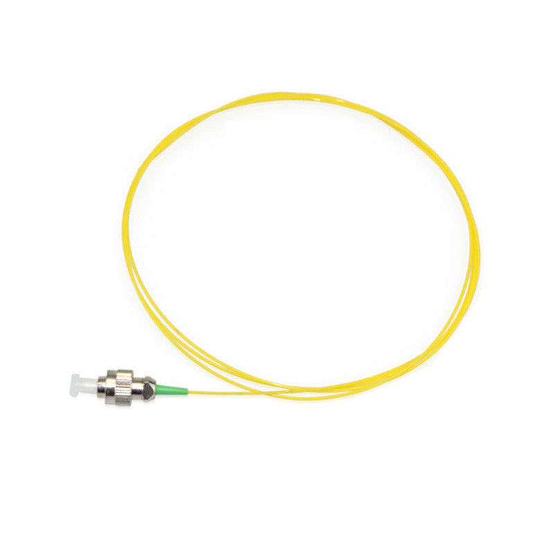 Yellow Color FC Fiber Optic Patch Cord , 0.9MM Diameter Single Mode Fiber Pigtails