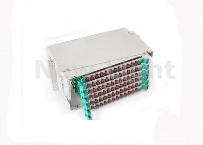 Local Area Networks Fiber Optic Distribution Frame ODF 19 Inch 72 Port Fiber Patch Panel