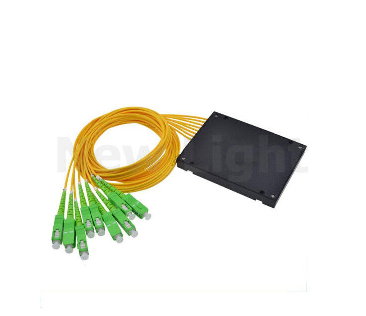 1.5 M 1:2 / 4 / 6 / 8 / 16 / 32  SC / APC Fiber Optic Splitter WDM single mode