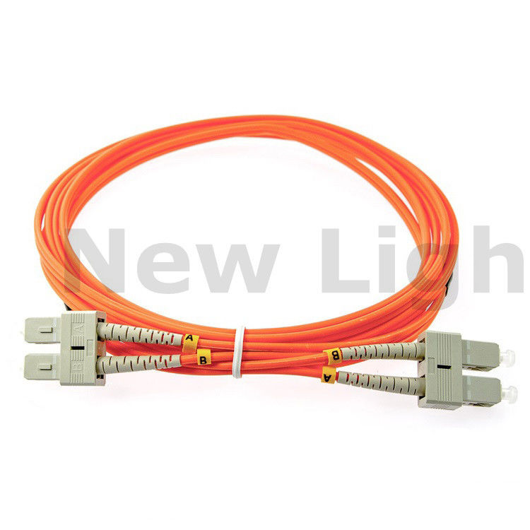 3 meters SC - SC multi mode fiber patch cord duplex OM2 / OM3 / OM4 50/125 2.0 cable