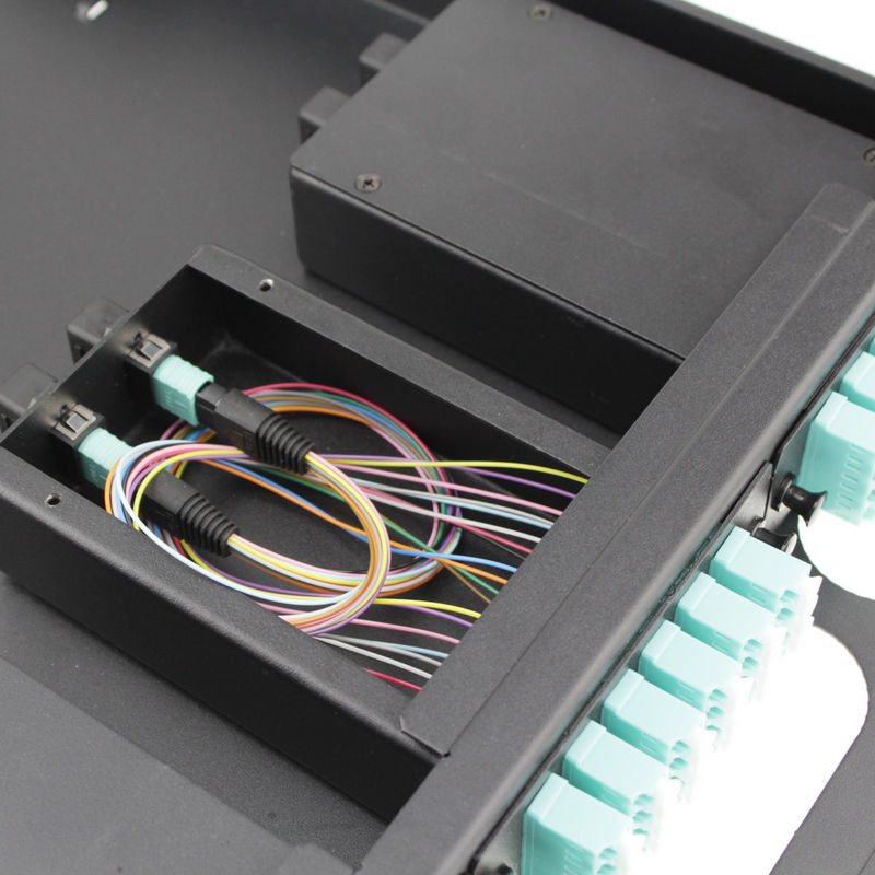 Stainless Steel 19 Inch Rack Mount Enclosure / Fiber Optic Termination Box