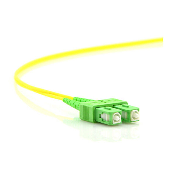 SC APC with clip Free Logo Optical Fiber Patch Cord Single Mode 2.0 Jumping Cable