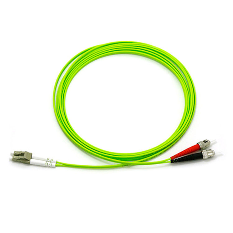 OM5 LSZH / PVC Multimode Duplex Fiber Optic Cable For All Connector Styles