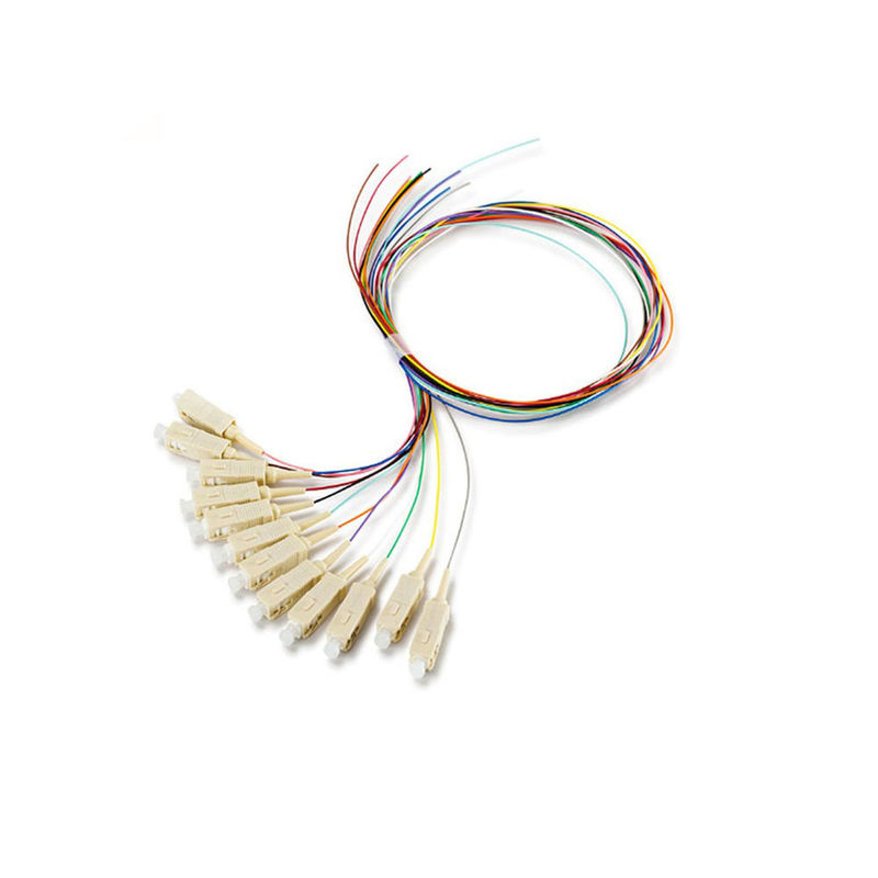 Multi - Mode Pigtail Fiber Optic Cable SC / PC 0.9 Mm For FTTH Box