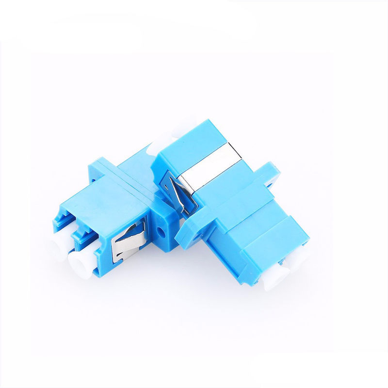 FTTH Single Mode Fiber Optic Adapter , LC Duplex Adapter 60 ° Incidence Angle