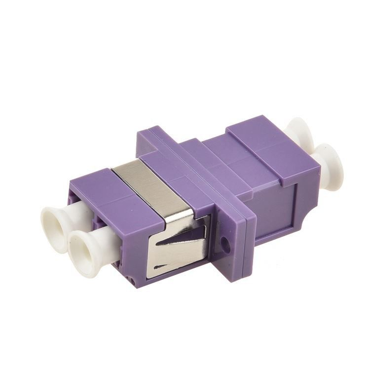Multimode Fiber Optic Connector Adapters Two Core OM4 Common Type With Purple Color