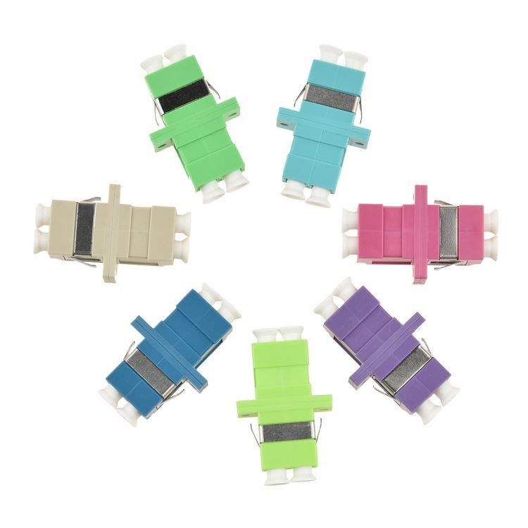 Ceramic Sleeve Fiber Optic Adapter , FC Fiber Optic Cable Adapter OM4 / OM5 Colors
