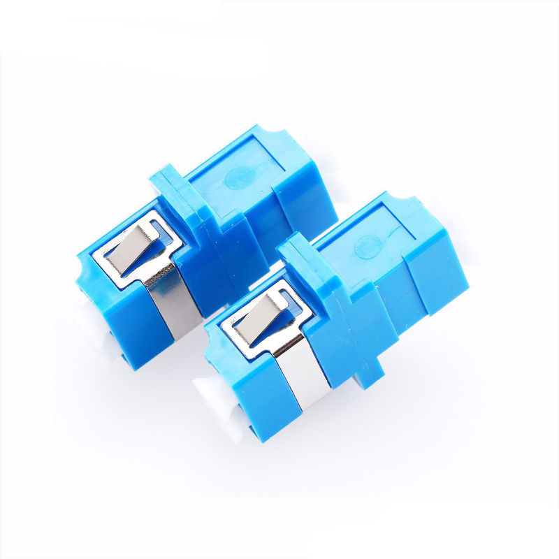 Blue Color Fiber Optic Connector Adapters Multi Mode With Ears Welded Type