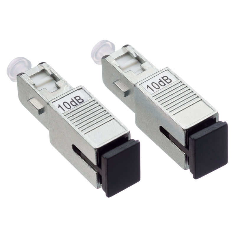 MPO / FC Fiber Optic Attenuator 9 / 125µM With 125 Micron Diameter Cladding