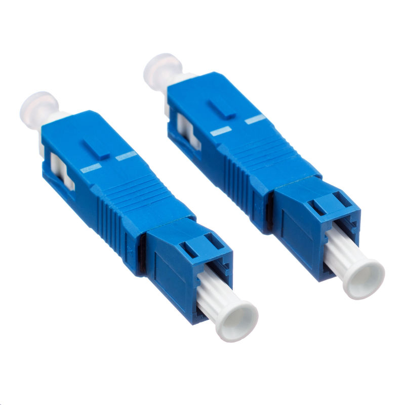 Hybrid Fiber Optic Connectors Low Insertion Loss With Blue Plastic Housing