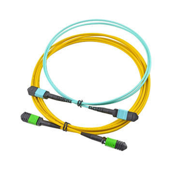 12 Core MPO MTP Cable , Yellow Color Trunk Fiber Optic Cable Assemblies For SFP