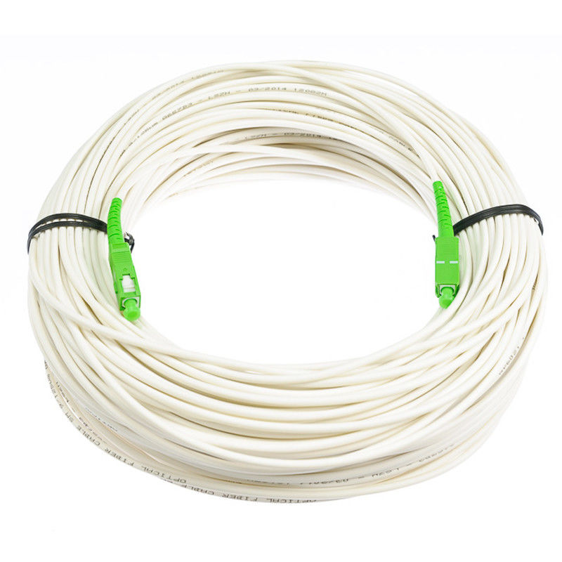 G657B3 Anti - Bending Fiber Optical Cable Single Mode White Color With LSZH Material