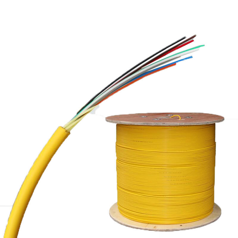 FTTTH 8 Core Indoor Fiber Optic Cable PVC Single Mode Fiber Patch Cord