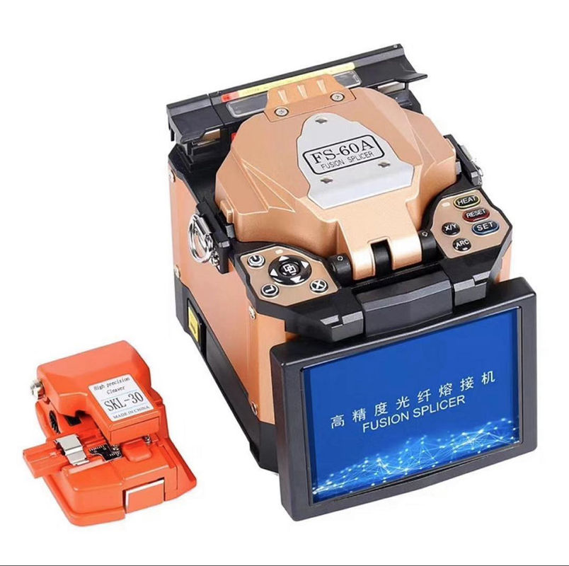 Automatic Fiber Optic Tools 7800mAh Battery Fusion Splicing Machine With Screen