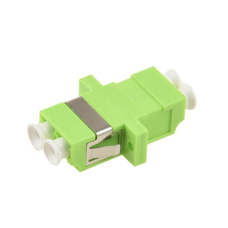 Plastic Fiber Optic Adapter LC To LC MM OM5 Green Color With Ceramic Sleeve