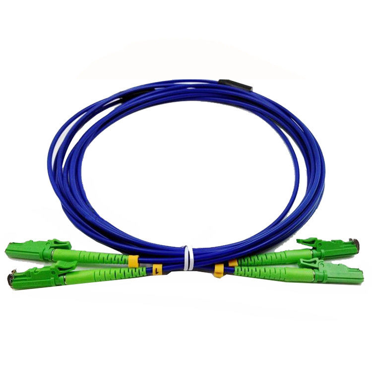 Armored E2000 APC Optical Fiber Patch Cord Duplex Fiber Count High Indentation Strength