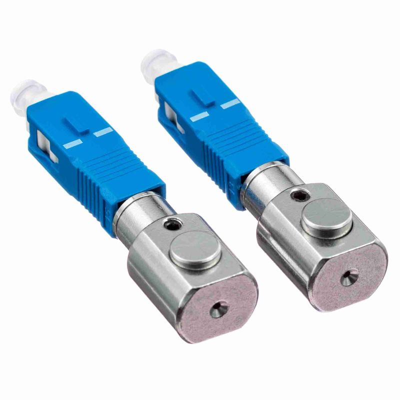 Gray Bare Adapter Fiber Optic SC Type Fiber Optic Couplers For Test Center