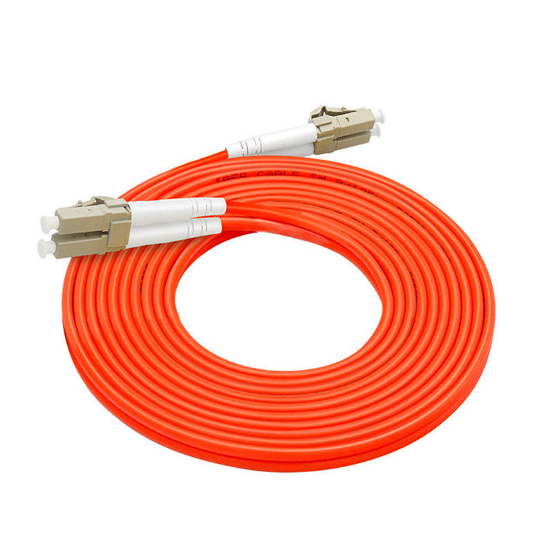 50 / 125 Multimode Duplex Outdoor Armored Fiber Optic Patch Cable Outdoor